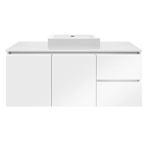 Forme Vanities Forme 1200mm Colourstone White Gloss Parclane Square