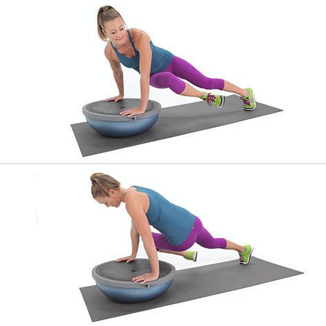 7 Great Bosu Exercises by Obliques Exercises Popsugar Fitness