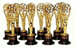 Oscar Favors by Buff Gold Trophy Set Of 12 Oscar