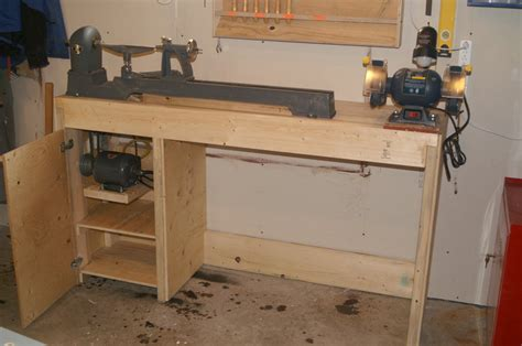 wood lathe bench plans lathe bench chisel rack by alan lumberjocks com