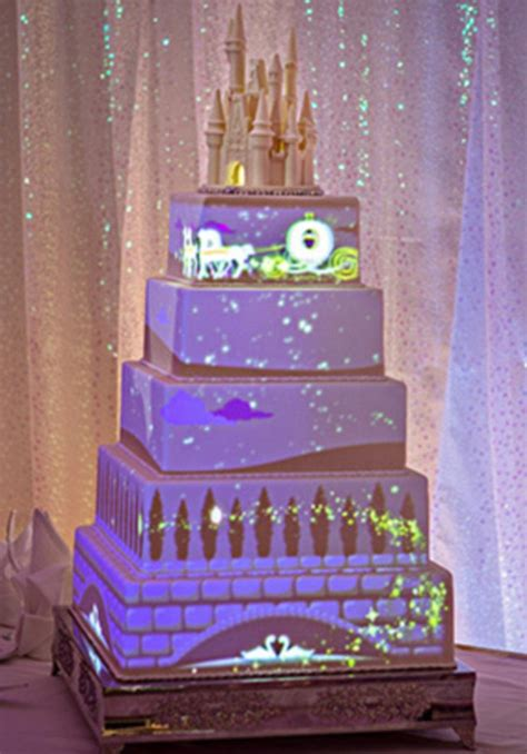 Tinkerbell Birthday Decorations Disney Creates Animated Wedding Cake With Magical Stories