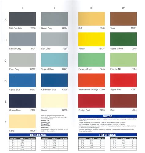 dunia paint international paint color card