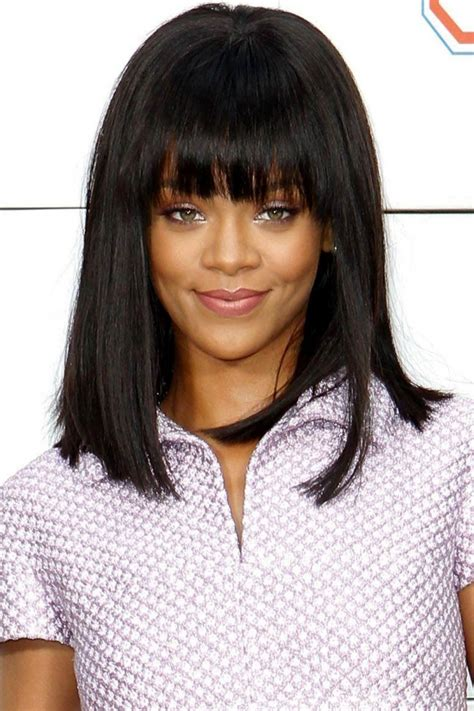 Rihanna Shows Us How Bangs Are Meant To Be Worn by 21 Fringe Haircut Ideas Designs Hairstyles Design