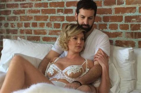 wife in bed katherine heigl strips off before climbing into bed with