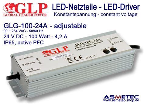 Driver Led 100 Watt Asmetec Shop Led Lichttechnik Und Techn Produkte Led Driver Glp Glg 100 24a
