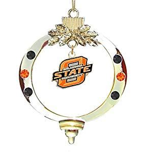 amazon com oklahoma state university christmas ornament