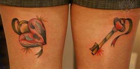 locked heart tattoo designs lock key