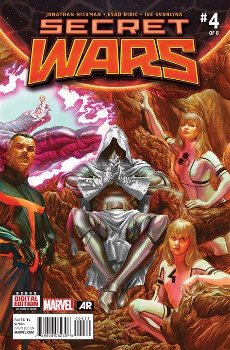 secret wars secret wars marvel comics review spoilers secret wars 4 by jonathan hickman esad ribic ive svorcina