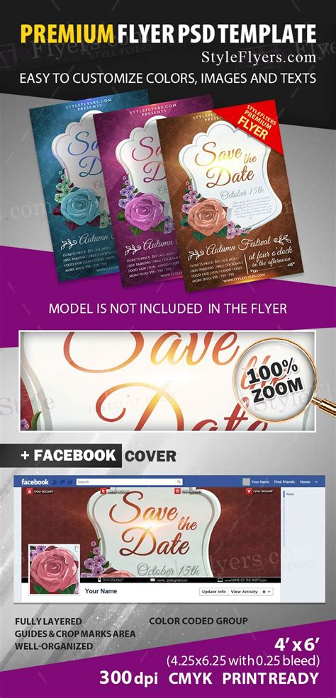 Save The Date Psd Flyer Template 12040 Styleflyers Save The Date Flyer Template