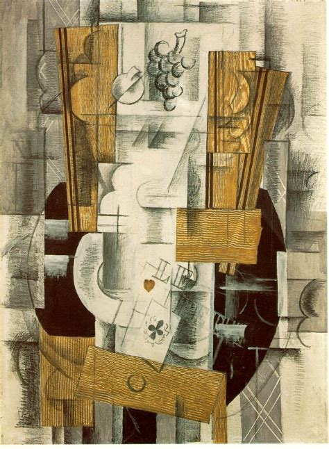 braque collage fruit dish 1913 georges braque wikiart org