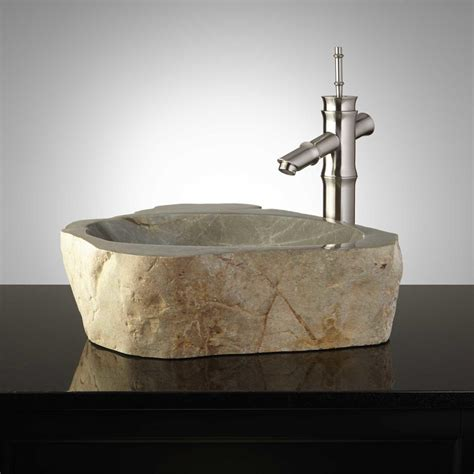 natural stone vessel sinks pershing natural stone vessel sink