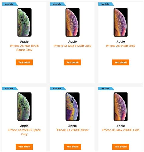 iphone xs si xs max au fost listate de orange si vodafone idevice ro