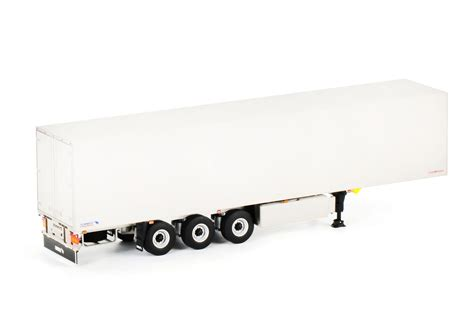 trailer white wsi truck trailer shmitz cargobull 1 50 white line box