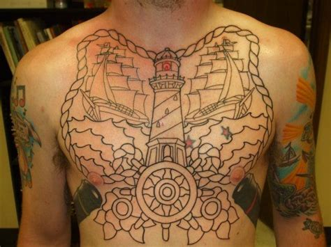 lighthouse tattoo chest pictures to chest lighthouse chest picture last