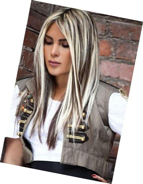 white hair with black lowlights blending gray hair with highlights blonde hair