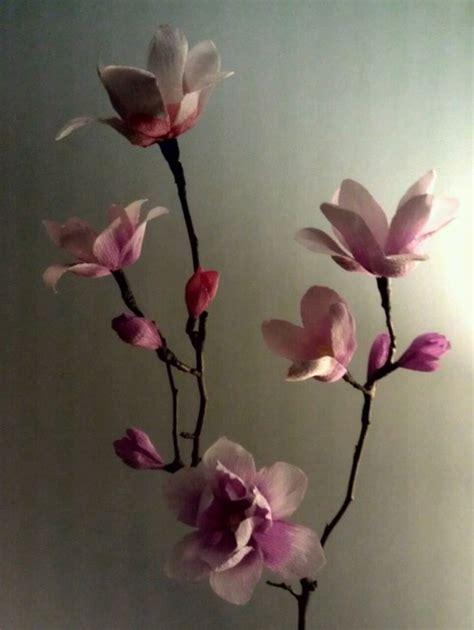 Magnolia Paper Flower Tutorial | crepe paper magnolias paper flowers pinterest do it