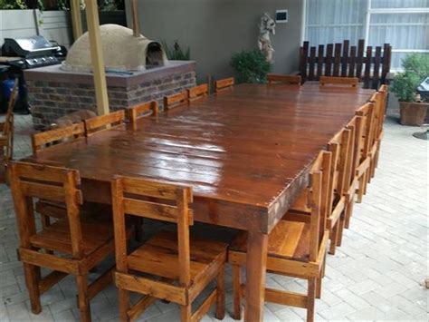 How To Make A Dining Room Table Out Of Pallets by Pallets Seater Table And Chair Set To Your Home Pallets