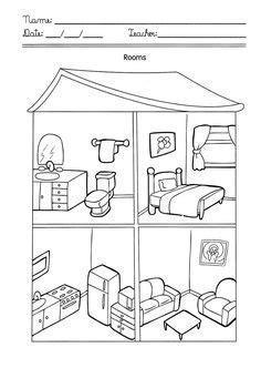 printable coloring pages rooms house house with rooms coloring pages xenia