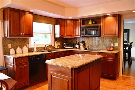 kitchen ideas with cherry cabinets subway tile backsplash with cherry cabinets deductour com