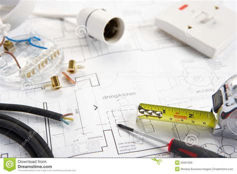 materials used in electrical wiring wiring tools and materials stock photo image 22001560