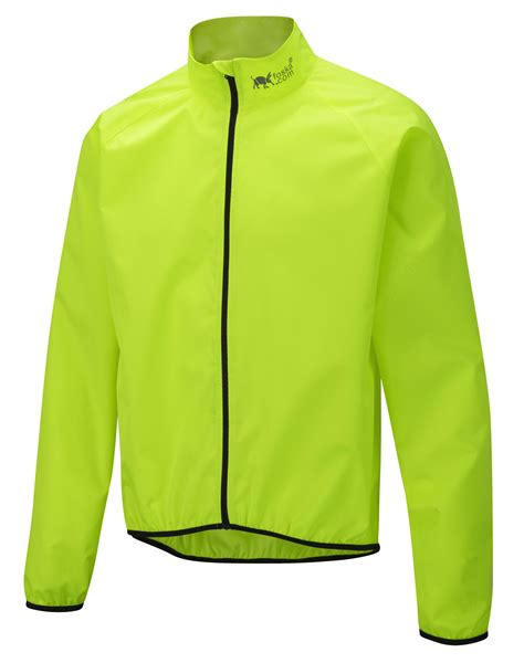 hi vis cycling jacket oska hi vis windshell cycling jacket yellow foska com