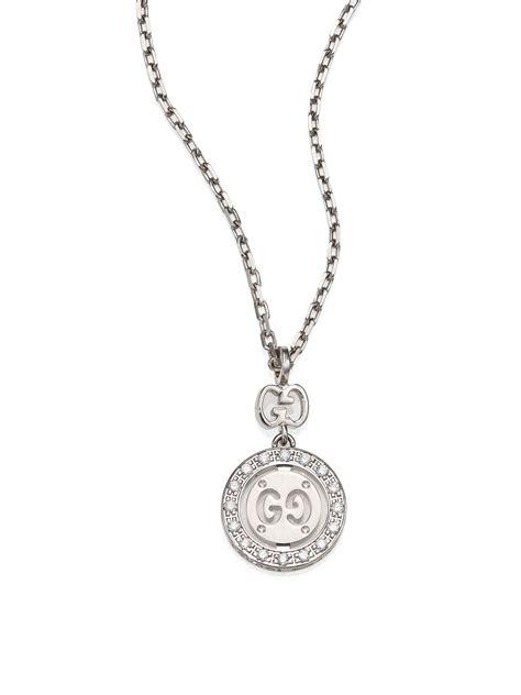 Gucci G063 White List Gold gucci icon twirl 18k white gold pendant necklace