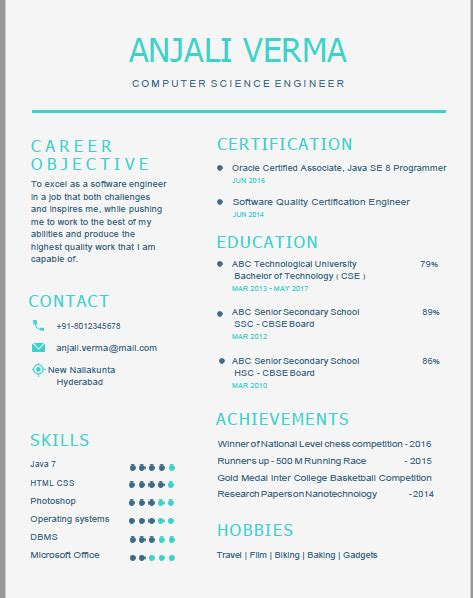 Resume Images For Freshers by Ece Resume Format For Freshers Dadaji Us