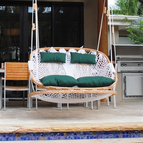 Patio Swing With Footrest Outdoor Swing With Footrest