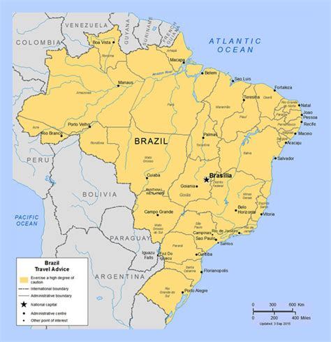 map of brazil cities detailed political and administrative map of brazil with