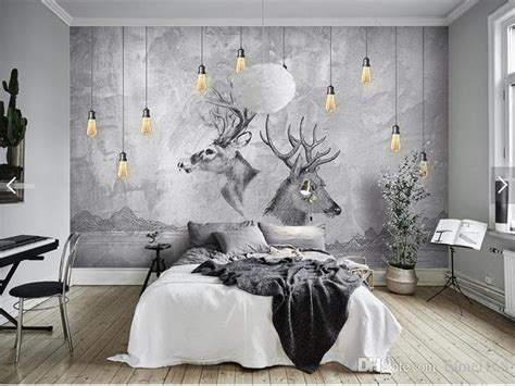 european  abstract grey elk animal photo wallpaper wall