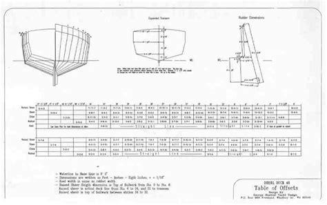 boat plans offsets plans