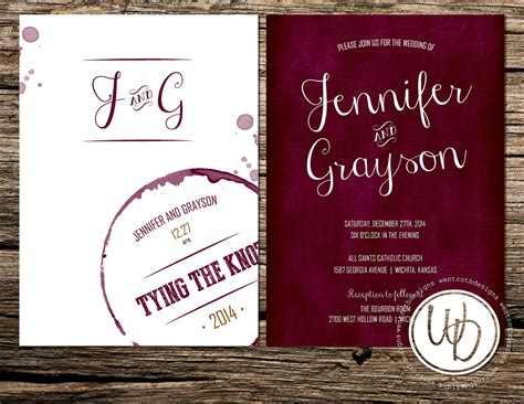 Wine And Gold Template Wedding Invitation Card Sle marsala wedding invitation wine wedding invitation merlot