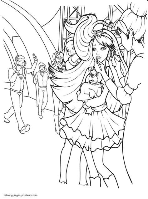 coloring pages for barbie princess and the popstar barbie the princess and the popstar characters coloring pages