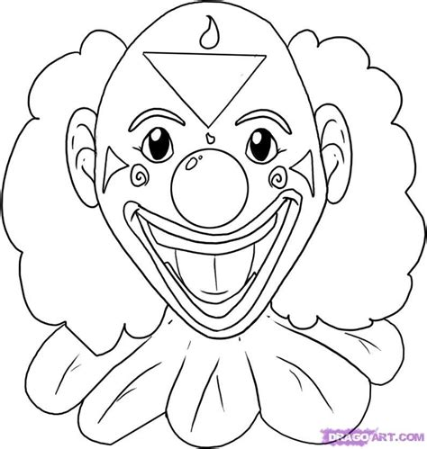clown face coloring pages coloring home