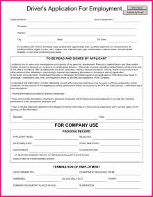 free truck driver application template 13 truck driver application form