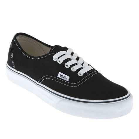 vans authentic black white trainers shoes ebay