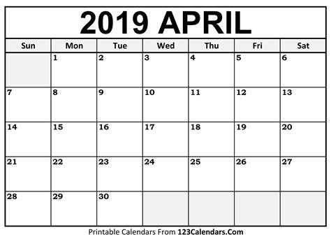 printable april 2018 calendar pre school template free printable