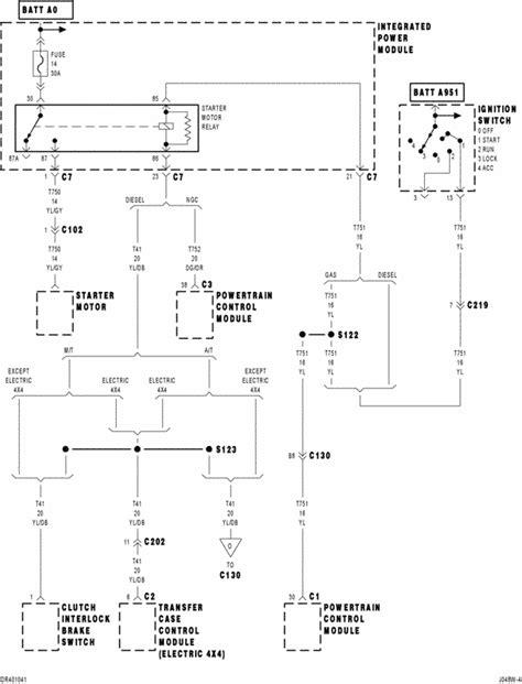 ignition wiring diagram 2000 dodge ram 1500 dodge