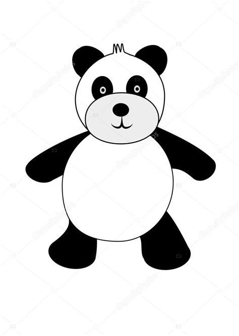 imagenes blanco y negro para estar un oso panda de blanco y negro de dibujos animados