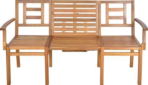 banc table banc de jardin convertible en table chaises en bois
