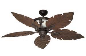 Tropical Leaf Ceiling Fan Tropical Ceiling Fan W 52 Quot Weathered Brick Blades The