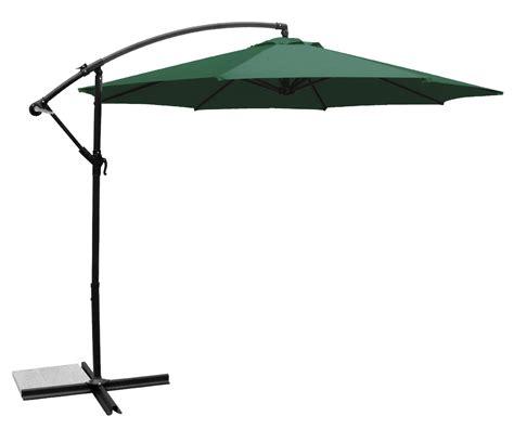 Deluxe Round Adjustable Cantilever Patio Market Umbrella