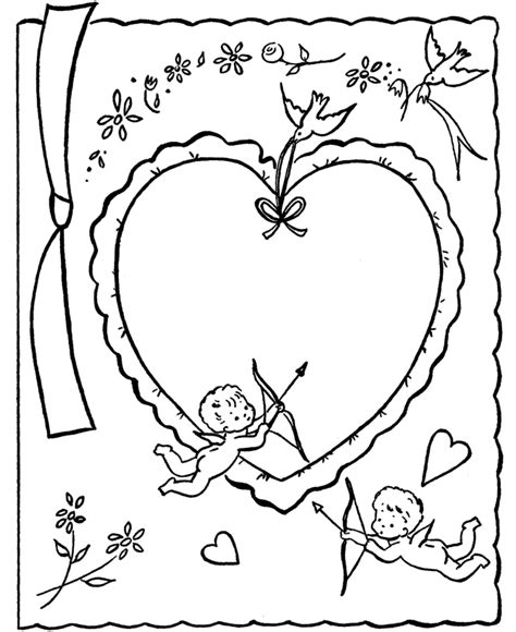 printable coloring pages valentines day cards valentines day cards for to color