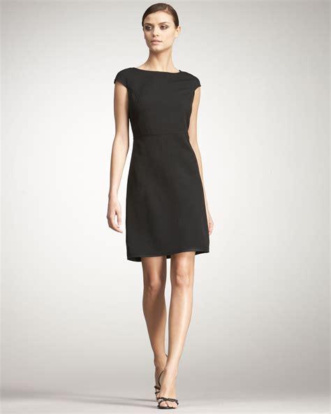 Vumeta Dress 1 bottega veneta cap sleeve dress in black lyst