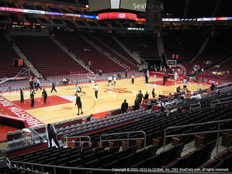 section 125 toyota center toyota center section 123 seat views seatgeek