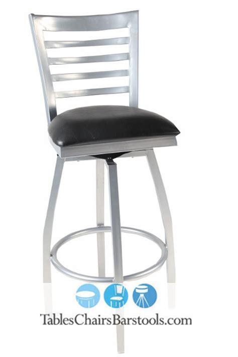 metal bar stools swivel with back gladiator silver framed full ladder back metal swivel bar