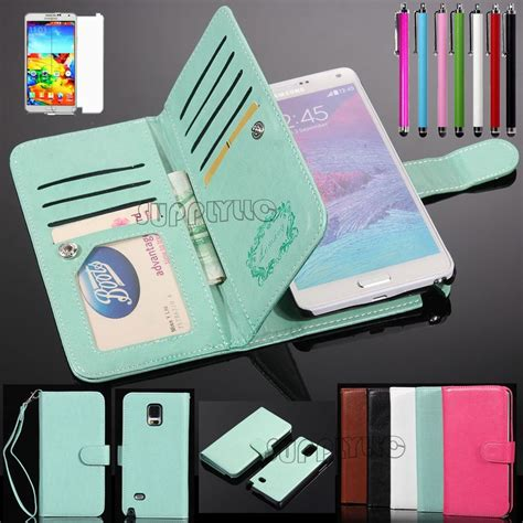 Leather Flipcover Samsung Note 5 for samsung galaxy note 4 note 5 magnetic flip cover stand