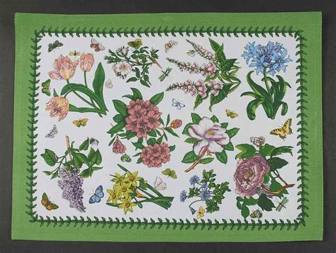 Portmeirion Botanic Garden Placemats Portmeirion Botanic Garden Chintz Rectangular Cloth Placemat 8945852 Ebay