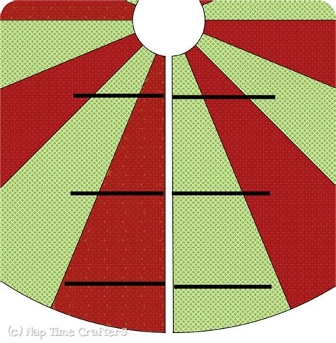 christmas tree skirt free pattern tutorial peek a boo