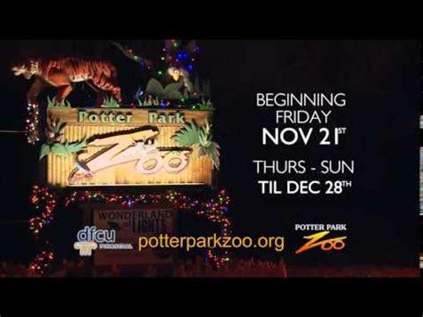 Potter Park Zoo Presents Wonderland Of Lights Youtube Potter Park Zoo Lights